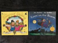 JULIA DONALDSON BOOK SET -2 BOOKS- Room on the Broom/The Scarecrows Wedding