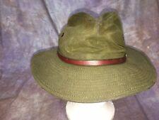 SDE Outback Trading Company Hat Oilskin Juneau Medium Made USA