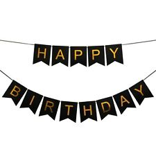 Happy Birthday Bunting Banner Garland Baby Shower Birthday Party Decoration B