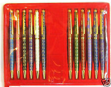 New wholesale 10PCS Mix Colors Chinese Style Characters Cloisonne Ball Pens