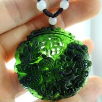 Beautiful 100% Chinese jade hand-carved the statue of  dragon PENDANT  H