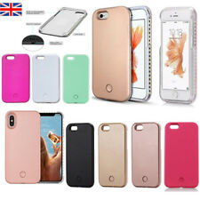 New White Light LED Selfie Phone Case Cover For iPhone 5 6 6s 7 8 X Plus Samsung