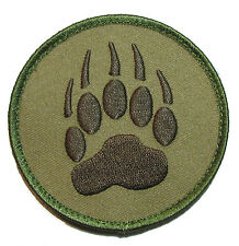 BEAR CLAW K9 DOG TRACKER USA ARMY MULTICAM MORALE HOOK PATCH