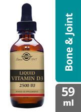 Solgar Liquid Vitamin D3 2500 IU 59 ML 2Oz Orange Flavour CrossFit Fitness