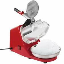 VIVOHOME Electric Ice Crusher Shaver Machine Snow Cone Maker Shaved 143lbs Red