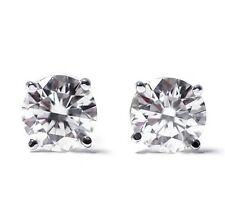 1.00ct 1ct ONE CARAT TOTAL ROUND-CUT H/I1 DIAMONDS 14K GOLD STUDS EARRINGS