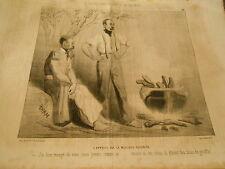 Caricature 1846 - A la guerre L'appétit est le meilleur cuisinier mangé du veau