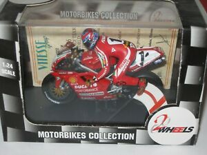 DUCATI 996 C FOGARTY SBK  WORLD CHAMPION W/RIDER 1999 LTD 1/24 2 WHEELS MODEL