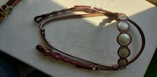 Showy western Leather Headstall
