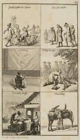 CHODOWIECKI (1726-1801). Satirische Beobachtungen; Druckgraphik 1