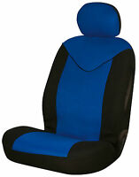 Sumex Unicorn Universal Single Padded Foam Front Car Seat Cover in Blue & Black