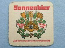 Beer Collectible Coaster ~ Brauerei Zur SONNE Sonnenbier ~ Bischberg, Bavaria