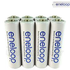 8 x Panasonic Eneloop AA batteries 1900mAh Rechargeable Ni-MH Accu BK-3MCCE LR06