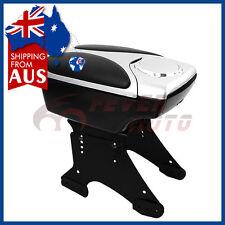 AU Car Black Silver Center Console Armrest Box w/Holder Bracket Fit Universal FM