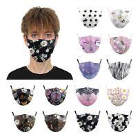 Mouth Face Cover Daisy Facemasks Women Men cotton Reusable Washable Breathable
