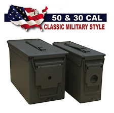 Lot of 2 Heritage Security Products 30 cal 50 Caliber Metal Ammo Cans NEW 30/50