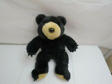 "BLACK GRIZZLY BEAR ANIMAL LAND NANCO 15"" STUFFED ANIMAL PLUSH SOLID DOLL"