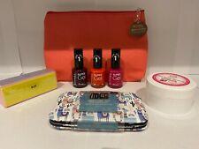 Nail Gift Set - 3x Rimmel Super Gel Nail Varnishes Pink Plum Orange Manicure Set