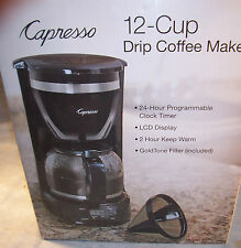 NEW Capresso 424 12 Cup Drip Programmable Automatic Coffee Maker LCD Clock Timer