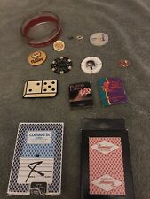 Casino memorabilia, Cards, Pins, Matches, Chips And Ashtray.