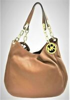 "MICHAEL KORS, Leather, Large Shoulder ""FULTON"" Tote bag, Tan/ Brown NEW! w/ Tags"