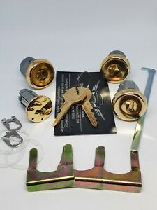 1966 Chevy Impala 24kt Gold Plated Ignition, Trunk, & Door Lock Set w/ Gold Keys