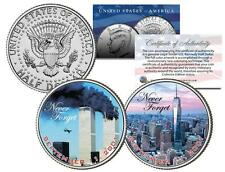 WORLD TRADE CENTER *Never Forget* 9/11 JFK Kennedy Half Dollar US 2-Coin Set WTC