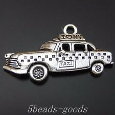 29pcs Antiqued Style Silver Alloy Taxi Pendant Charms Jewelry 32*12*3mm 50096