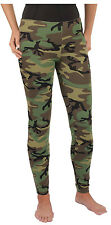 Womens Camo Woodland Camouflage Military Spandex Leggings Pants Rothco 3298