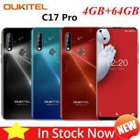 OUKITEL C17 Pro Smartphone 4G Unlocked 4GB + 64GB Android 9.0 Face ID Dual SIM