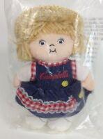 "Campbells Soup Kids Straw Hat Girl Doll 8"" Beanbag Plush Stuffed Toy Sealed"