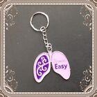 New Cystic Fibrosis Awareness Breath Easy Metal Purse Keychain Very Nice