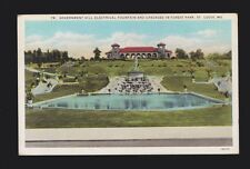 1c 1932 Government Hill Electrical Fountain & Cascades in Forest Park St. Louis