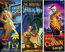 Aurora Monster Kits The Fly, Shrinking Man & Laugh Clown Sticker Or Magnet