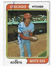 Cy Acosta Signed 1974 Topps Card / Autographed