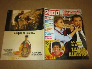 RIVISTA NOVELLA 2000 N°13/1980 POSTER CABRINI A.LUPO S.LOREN CELENTANO B.D'URSO
