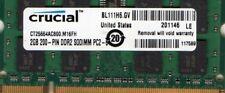 2GB Acer Aspire One D150 D250 D255 D260 P531 DDR2 Netbook/Notebook RAM Memory