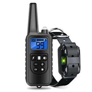 Electric Dog Training Collar Waterproof Rechargeable Shock Vibration Dog Collar