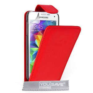 Case For Samsung Galaxy S5 Mini Neo Luxury Genuine Leather Flip Wallet Cover