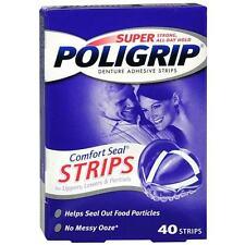 Super PoliGrip Denture Adhesive, Comfort Seal Strips 40 ea