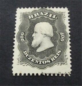nystamps Brazil Stamp # 59 Mint OG H $120 Imprint   A30y158