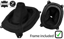BLACK STITCH LEATHER GEAR BOOT+PLASTIC FRAME FITS MAZDA RX7 FD3S 92-02
