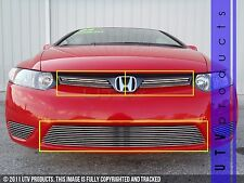 GTG, 2006 - 2008 HONDA CIVIC 2DR 3pc CHROME UPPER & BUMPER BILLET GRILLE KIT