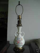Vintage ceramic and cast iron  table lamp by C&S, NY
