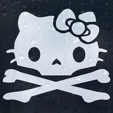 Hello Kitty Skull ventana de coche Parabrisas Body Panel Laptop calcomanía pegatina de vinilo