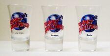 PLANET HOLLYWOOD NEW YORK, PARIS & LONDON SHOT GLASSES - Set of 3 - Rare
