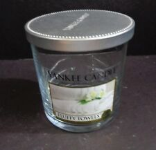 1 Yankee Candle Empty Clear Glass Candle Jar Holds holds 12 oz liquid with lid