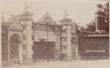 London Real Photo Postcard. Boston House. Brentford. Mailed Muswell Hill. 1913