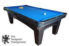 Brunswick Billiard Bayfield 8' Pool Table Oceanside Felt Matte Black Accessories
