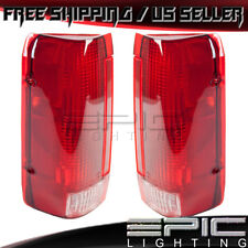 1990-1997 FORD BRONCO F150 F250 PICKUP Rear Brake Tail Lights - Left Right Pair